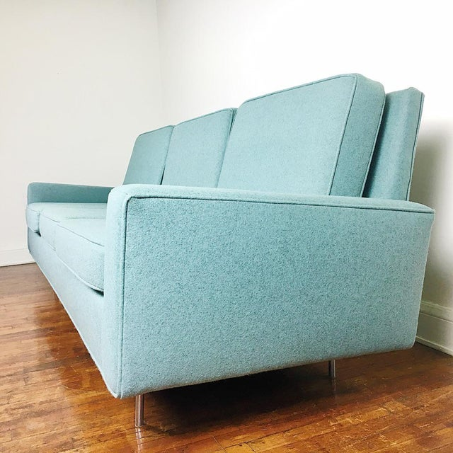1950s Blue Florence Knoll Sofa For Sale - Image 5 of 11