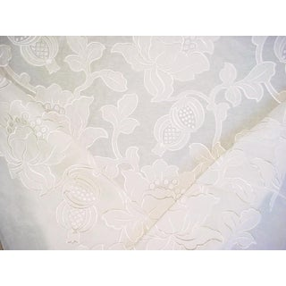 Scalamandre Granada Fh Ivory Floral Damask Upholstery Fabric - 7 1/4 Yards For Sale
