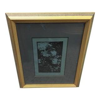 Auguste Lepere Woodcut Le Trophee Circa 1900 For Sale