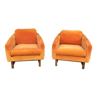 1970s Bernhardt Furniture Flair Division Lounge Chairs - a Pair For Sale