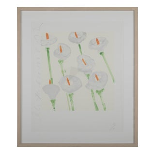 "Donald Sultan ""Lilies"" Serigraph on Paper For Sale"