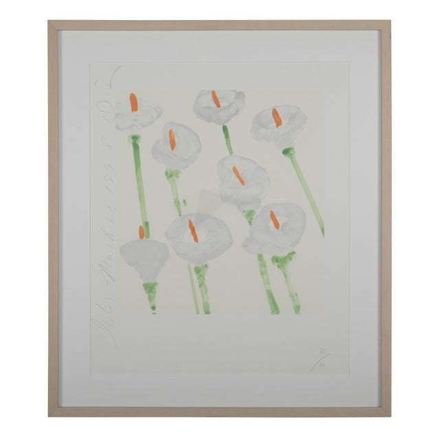 """Donald Sultan """"Lilies"""" Serigraph on Paper For Sale"""