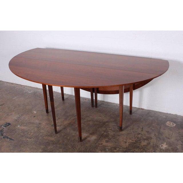 Walnut Walnut Drop-Leaf Console Table by Edward Wormley for Dunbar For Sale - Image 7 of 11