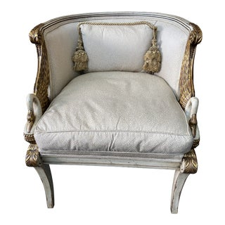 Like New Upholstered Karges Living Room Chair For Sale