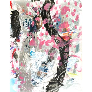 """2020 Mixed Media Painting """"Cherry Blossom"""" by Jessalin Beutler For Sale"""