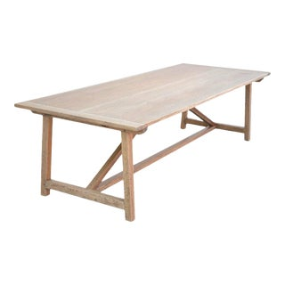 Expandable Farm Table in Distressed Rift Sawn Oak For Sale