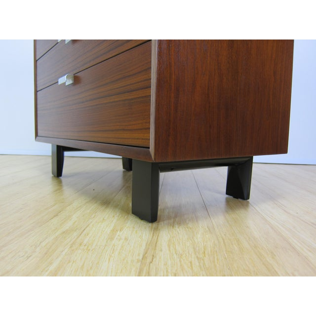 Brown 1950s George Nelson for Herman Miller Walnut Dresser For Sale - Image 8 of 13