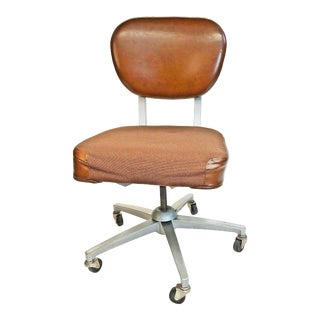Vintage Industrial Brown Swivel Office Chair by Emeco