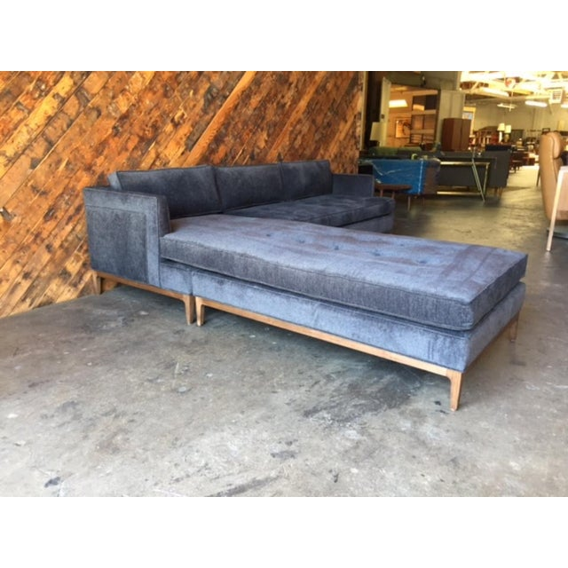Mid-Century Modern Mid-Century Style Custom Reversible Sofa Chaise Lounge For Sale - Image 3 of 8