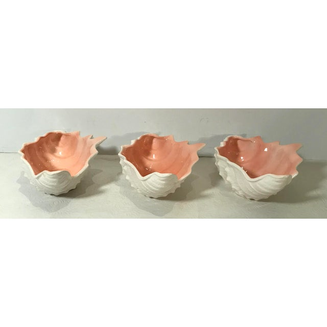 Vintage Fitz and Floyd Shell Shaped Bowls - Set of 3 For Sale In Dallas - Image 6 of 13