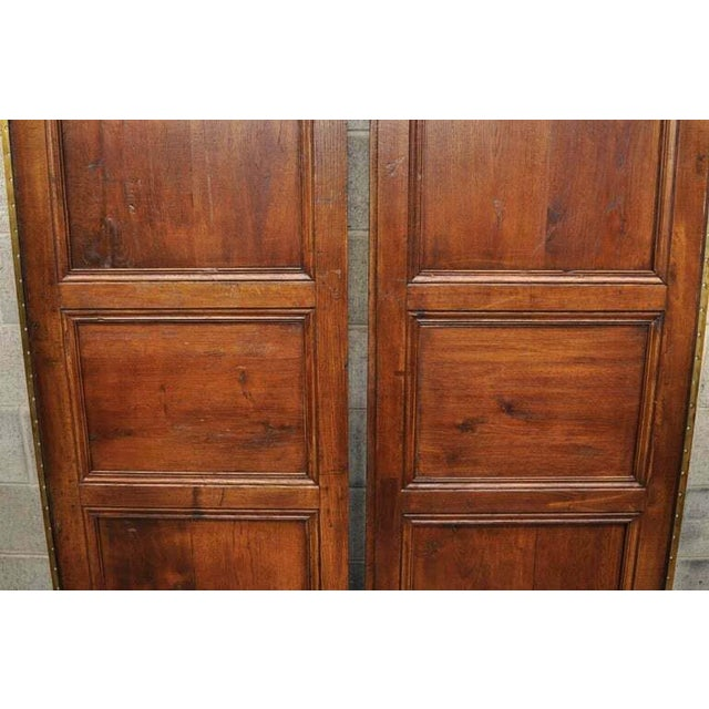 Antique French Louis XVI Style Carved Oak Interior Double Doors - Set of 2 For Sale - Image 10 of 13