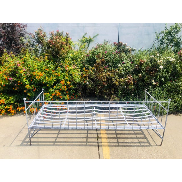 Late 20th Century Vintage Wrought Iron Daybed Sofa For Sale - Image 5 of 6