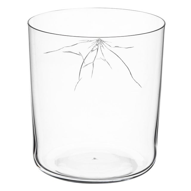 """Blown Glass """"Neo Crack"""" B Tumbler by Murray Moss For Sale - Image 7 of 8"""