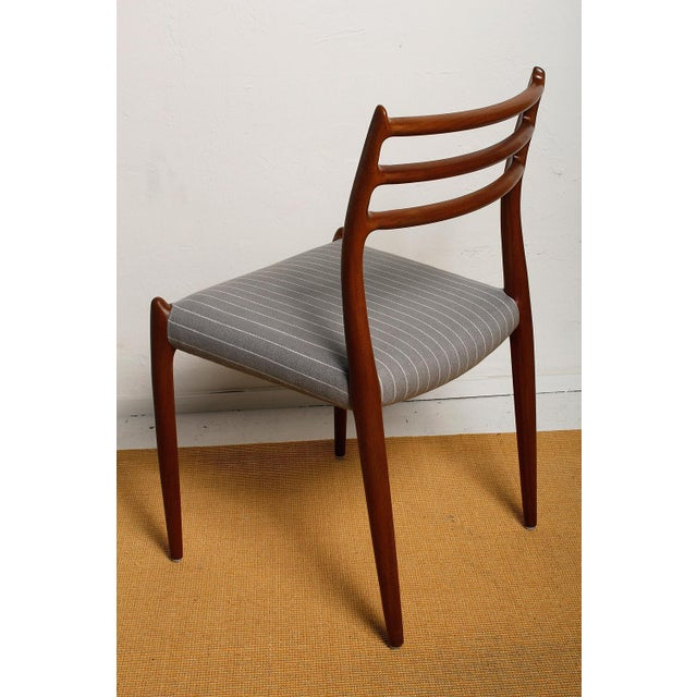 Fully Restored 1960s Teak Dining Chairs by Niels O. Møller-Set of 6 For Sale - Image 9 of 13