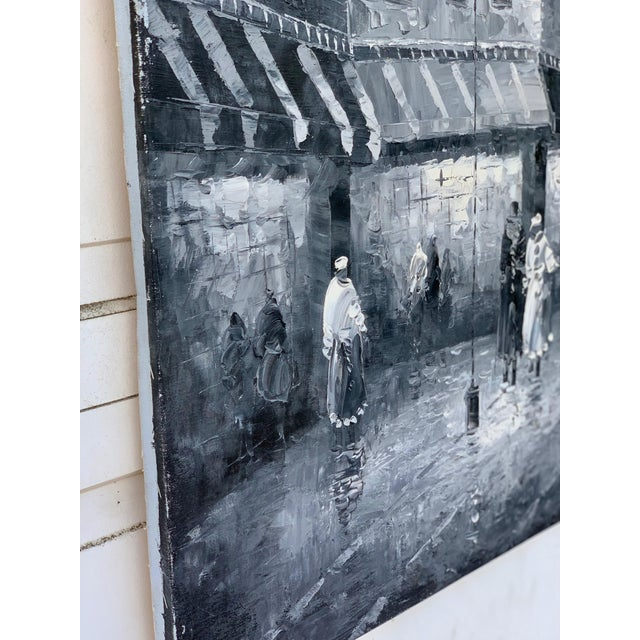 1960s Vintage Grayscale l'Arc d'Triomphe Painting For Sale In Los Angeles - Image 6 of 7