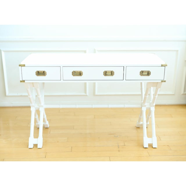 Bamboo Company Furniture Bombay Company White Faux Bamboo Campaign Style