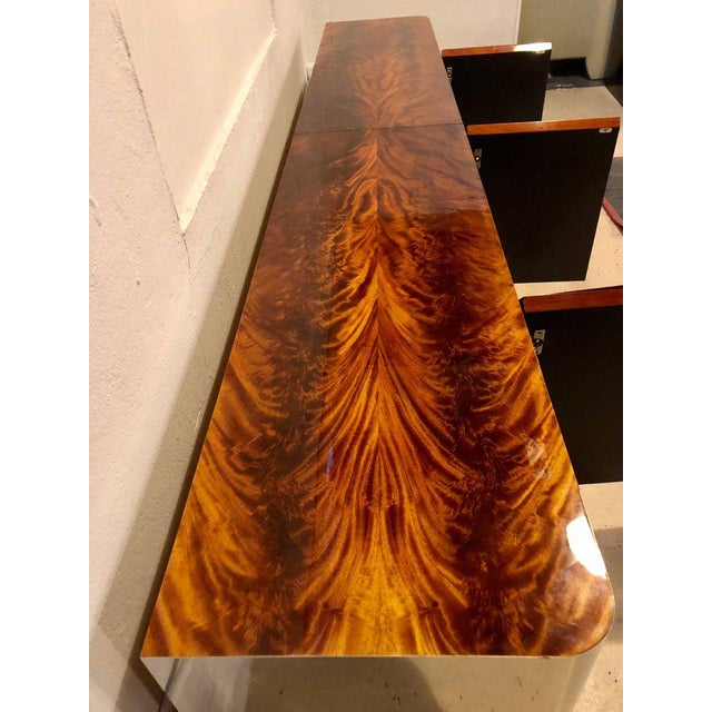 1970s Monumental Sideboard of Chrome and Burl Wood by Pace Collection For Sale - Image 5 of 12