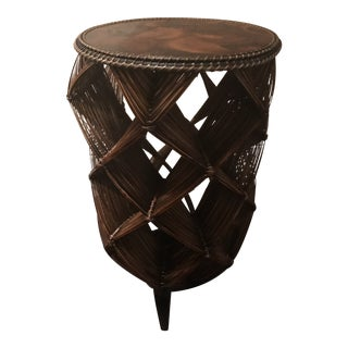 Palecek Wooden Side Table For Sale