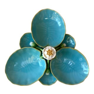 Antique 19th Century English Victorian Majolica Water Lily Minton For Sale