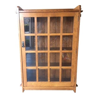 Stickley Home Office Mission Single Bookcase With Glass Door For Sale