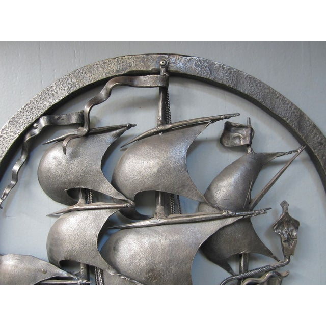 Hand-Forged Wrought Iron Spanish Galleon - Image 4 of 8