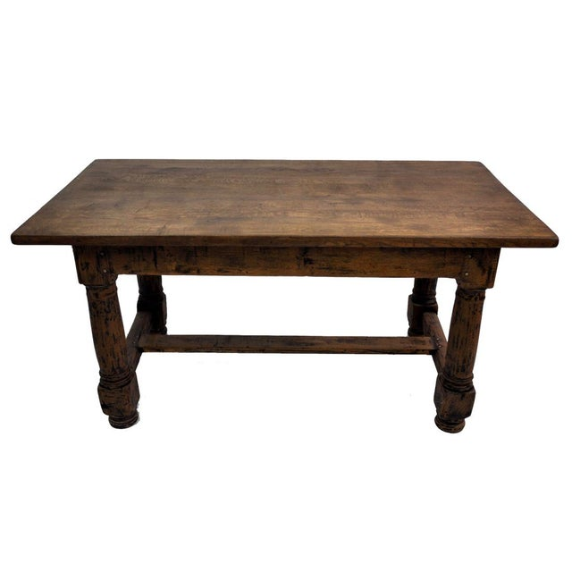 214e8c376506 18th Century French Farmhouse Oak Dining Table For Sale - Image 12 of 12