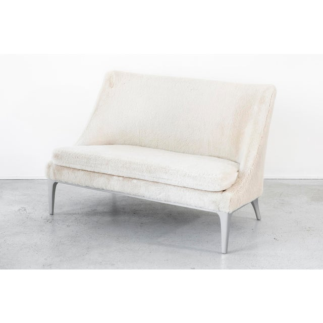 Faux Fur Settee by Lawrence Peabody - Image 3 of 10