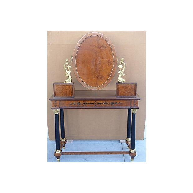 Empire Style Vanity Desk with Mirror & Chair - Image 7 of 11