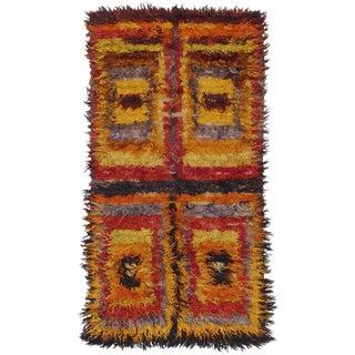 Four Squares, Angora Tulu Rug For Sale