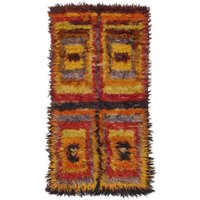 Four Squares, Angora Tulu Rug For Sale