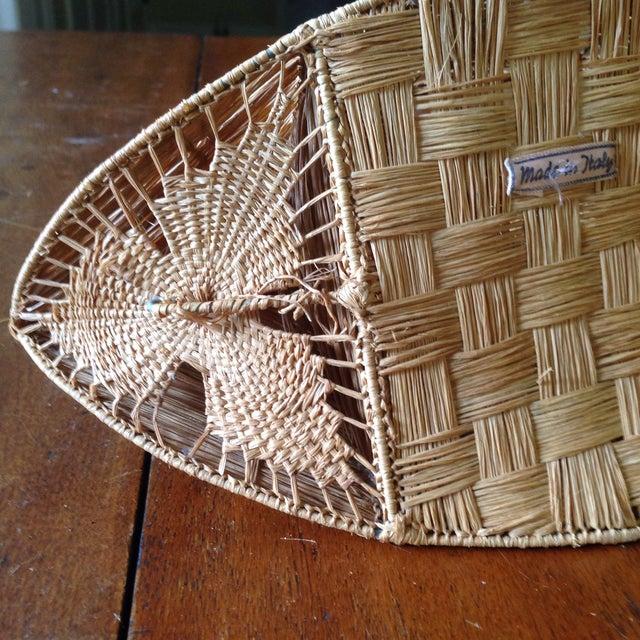 Vintage Italian Straw/Wicker Duck Basket - Image 10 of 11