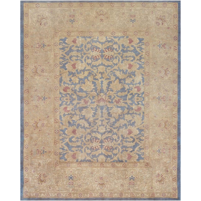 """Mansour Superb Quality Handwoven Agra Rug - 7'10"""" X 9'7"""" For Sale"""