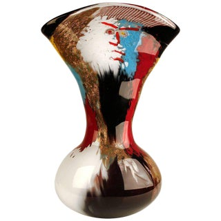 1950s Dino Martens Geltrude Vase for Aureliano Toso