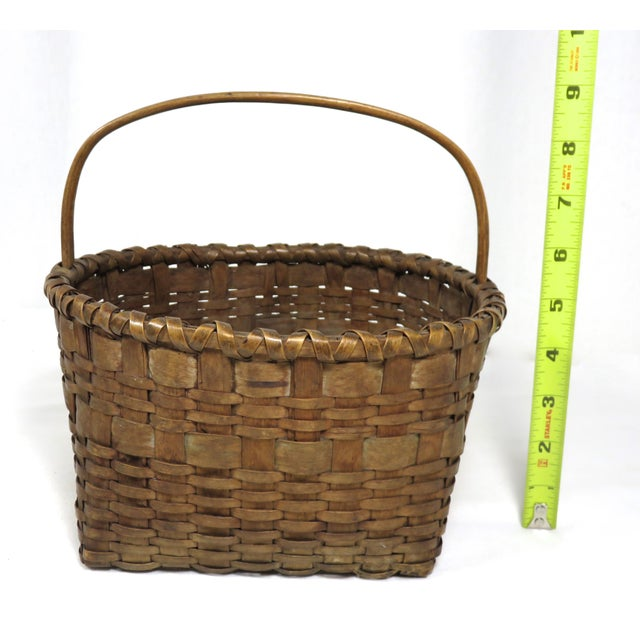 20th Century Rustic Maine Woven Basket For Sale - Image 11 of 13