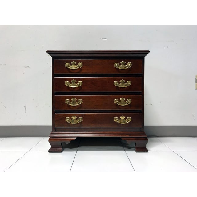 JF Delwood Solid Cherry Chippendale Chairside Chest - Image 4 of 11