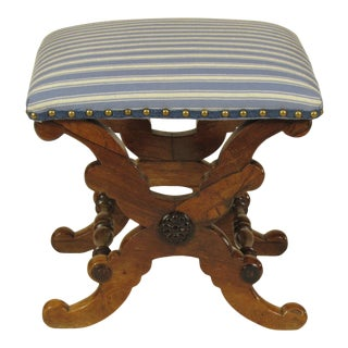 19th Century French Charles X Stool For Sale