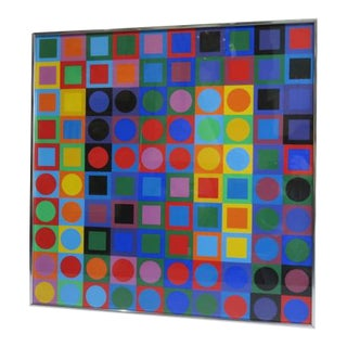 1960s Vintage Victor Vasarely Silkscreen Print For Sale