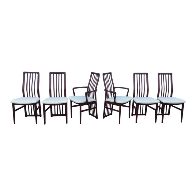 Danish Modern Dining Chairs - Set of 6 - Image 1 of 11