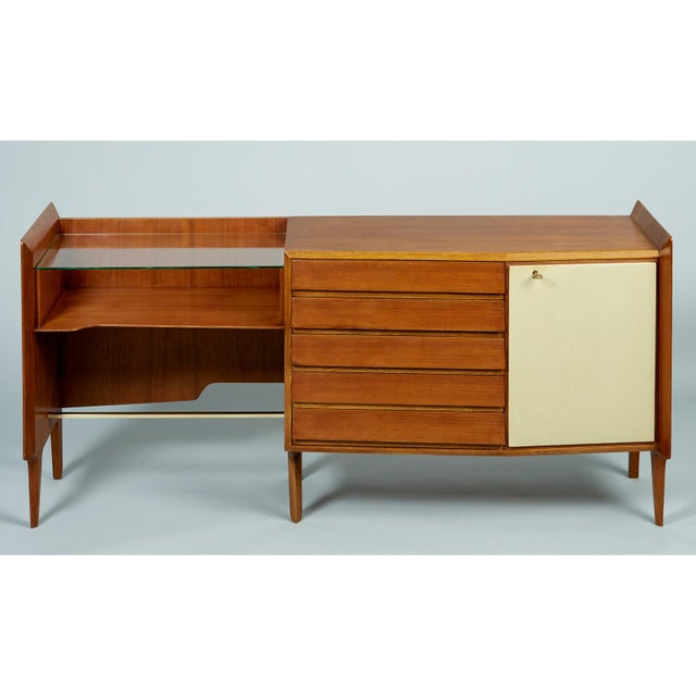 Gio Ponti Exceptional Asymmetric Mahagony Cabinet For Sale - Image 10 of 10