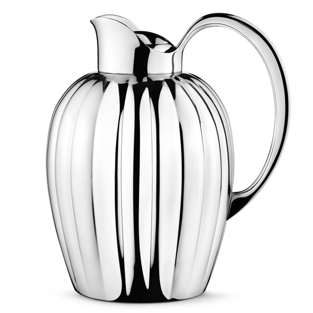 Georg Jensen Georg Jensen Art Deco Stainless Steel Bernadotte Thermo Jug, 1 Liter For Sale - Image 4 of 4