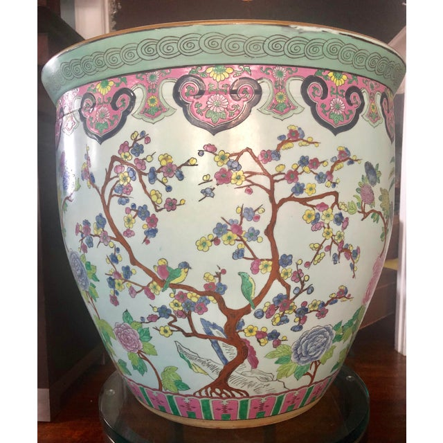 Large Asian Fishbowl Planter For Sale - Image 9 of 9
