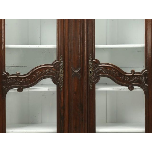 Antique French Walnut Armoire or China Cabinet For Sale - Image 9 of 13