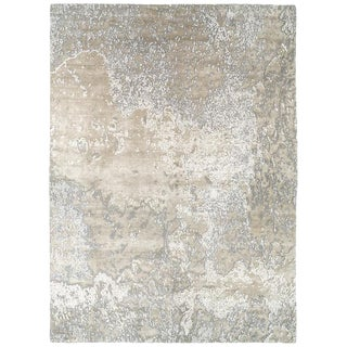 Organic/ Abstract Style Area Rug in Silk and Wool by Carini For Sale