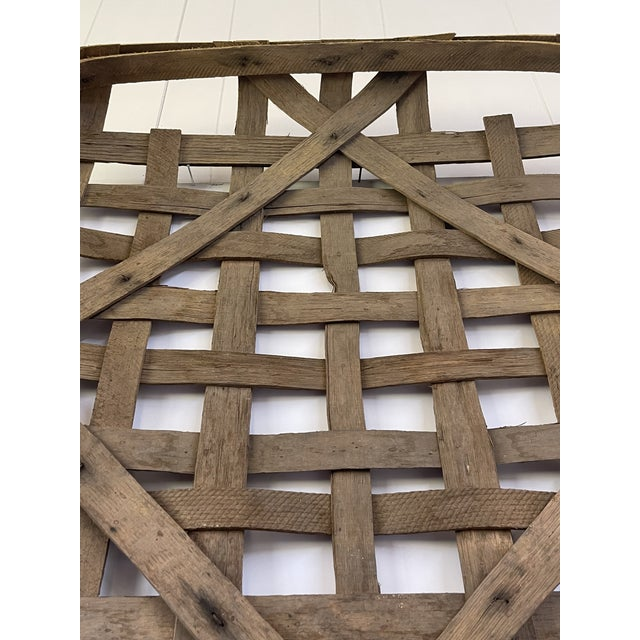 Large Authentic Antique Tobacco Basket For Sale - Image 11 of 12