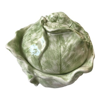 Cabbage Shaped Lidded Soup Bowl For Sale