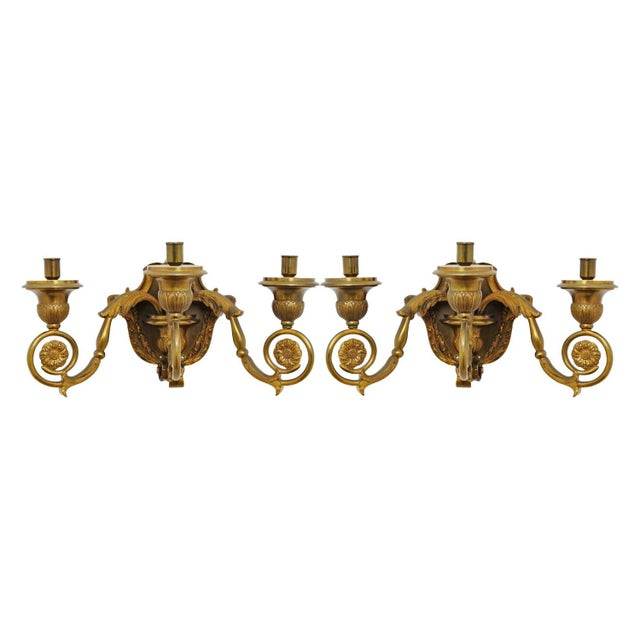 19th Century French Gilt Bronze Sconces - A Pair For Sale - Image 5 of 5