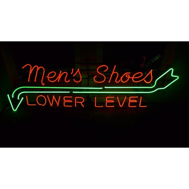Neon Sign From Department Store, Men's Shoes, Lower Level, Circa 1930s. For Sale - Image 13 of 13