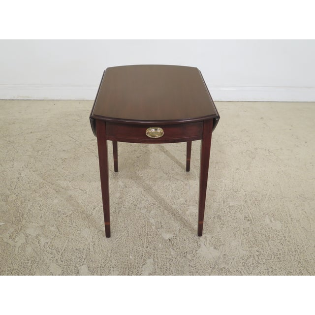 Federal 1990s Vintage Henkel Harris Mahogany Pembroke End Tables- A Pair For Sale - Image 3 of 12