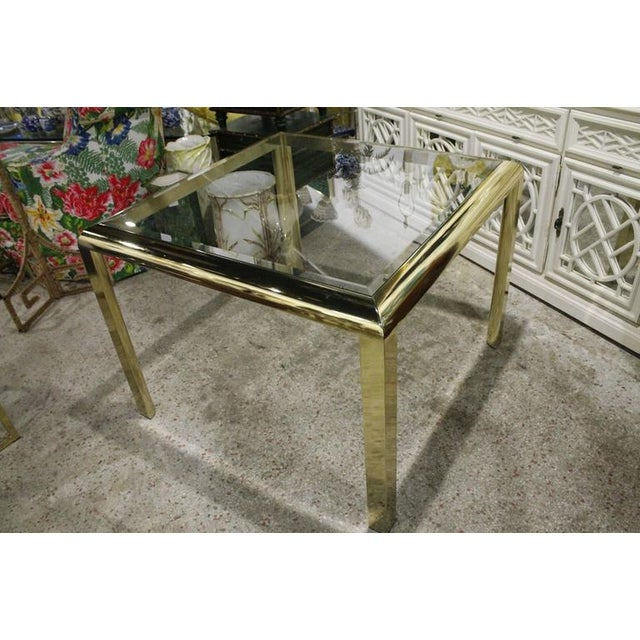 Gold Vintage Brass Dining Table Game Table For Sale - Image 8 of 10