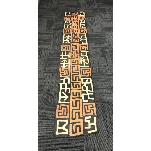 African art, tribal art Handwoven Kuba Cloth from DRC . Made of Raffia cloth. Very good and excellent condition.